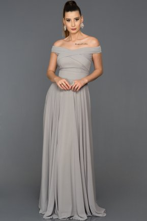 Long Grey Evening Dress AB1163