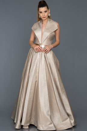 Long Mink Engagement Dress AB1066