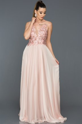 Long Pink Engagement Dress AB4377