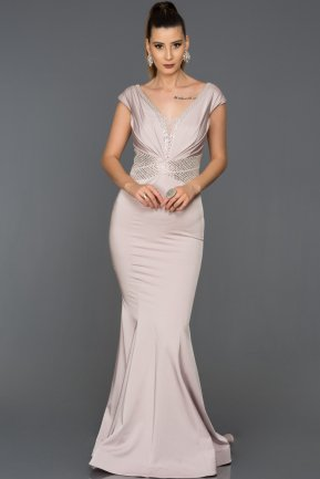 Long Rose Colored Engagement Dress AB4817