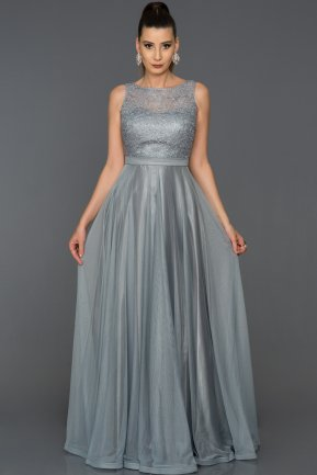 Long Grey Prom Gown AB7084