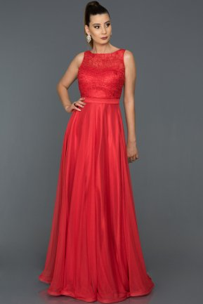 Long Red Prom Gown AB7084