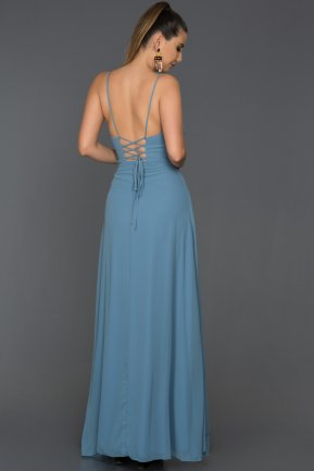 Long İndigo Prom Gown ABU119