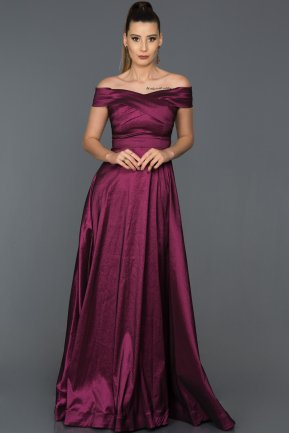 Long Violet Evening Dress AB7147