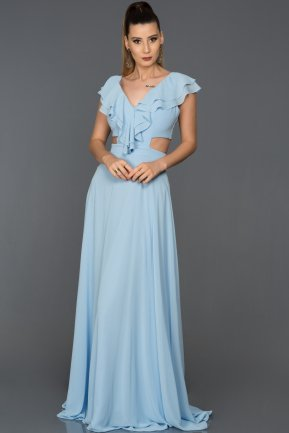 Long Blue Engagement Dress ABU072