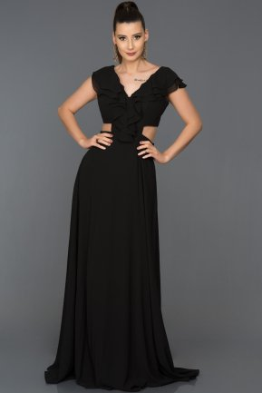 Long Black Engagement Dress ABU072