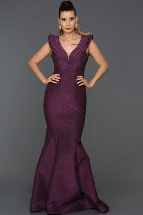 Long Fuchsia Mermaid Prom Dress AB7583