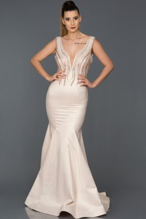 Long Powder Color Mermaid Prom Dress AB8049
