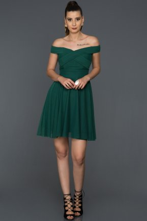 Short Emerald Green Invitation Dress AB8063