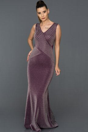 Long Purple Prom Gown AB37120