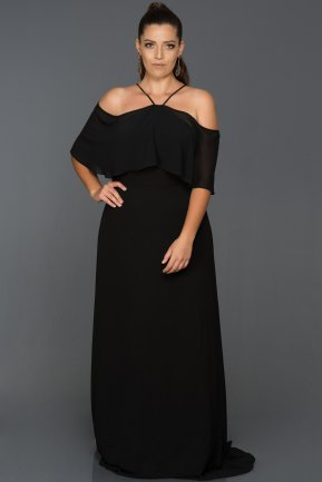 Long Black Oversized Evening Dress AB9341