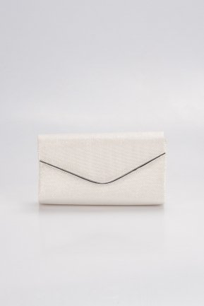 Pearl Silvery Evening Bag V458
