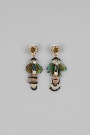 Green Earring BT144