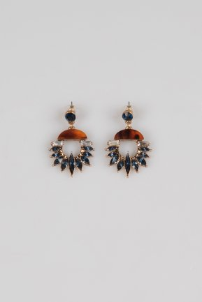 Navy Blue Earring ZB007