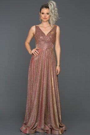 Long Rose Colored Engagement Dress AB7592