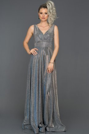 Long Sax Blue Engagement Dress ABU082