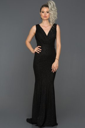 Tail Black Mermaid Prom Dress ABU235