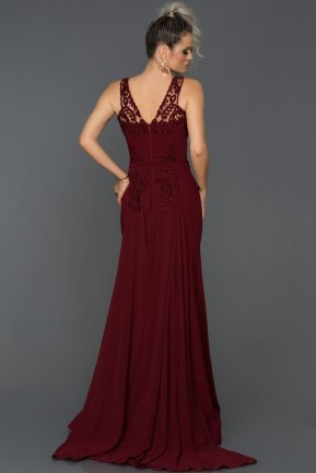 Long Burgundy Evening Dress AB6856