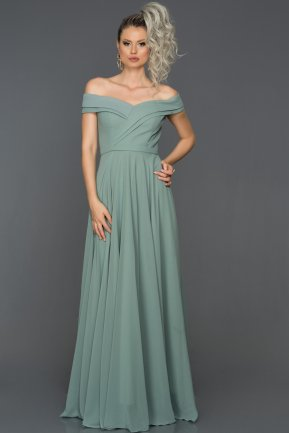 Long Firuze Engagement Dress AB7135