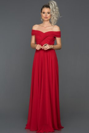 Long Red Engagement Dress AB7135