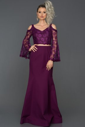 Long Violet Engagement Dress ABU1359