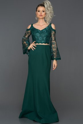 Long Emerald Green Engagement Dress ABU1359