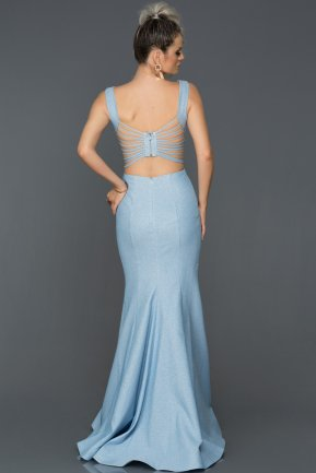 Long Blue Engagement Dress AB7437