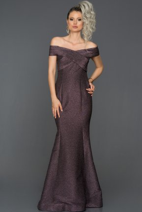Long Violet Mermaid Evening Dress ABU1360