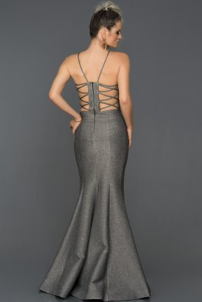 Long Grey Mermaid Prom Dress AB7466