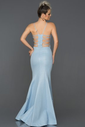 Long Blue Mermaid Prom Dress AB7466