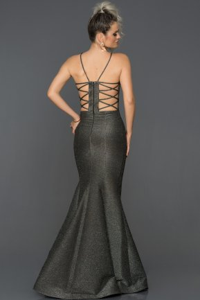Long Black-Silver Mermaid Prom Dress AB7466