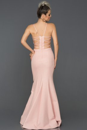Long Salmon Mermaid Prom Dress AB7466