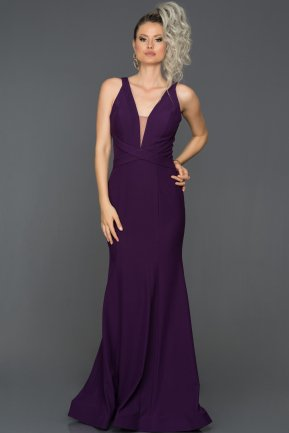Long Purple Mermaid Prom Dress ABU121