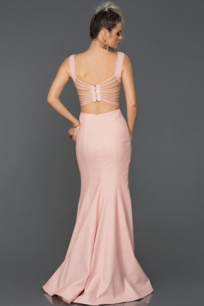 Long Salmon Engagement Dress AB7437