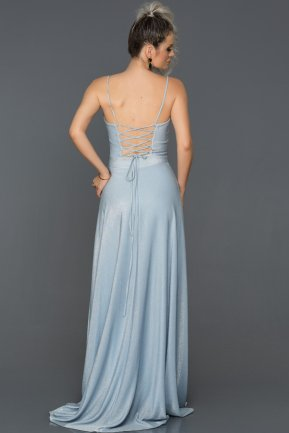 Long Blue Engagement Dress ABU142