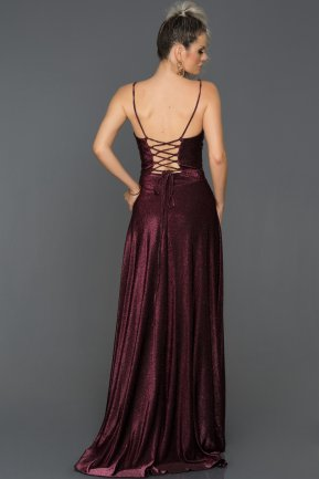 Long Plum Engagement Dress AB7503