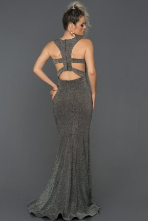 Long Black-Silver Engagement Dress AB7514