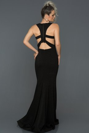 Long Black Engagement Dress AB7514