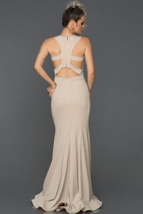 Long Salmon-Silver Engagement Dress AB7514