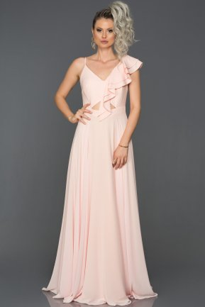 Long Powder Color Engagement Dress AB1014