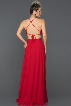 Long Red Engagement Dress ABU089