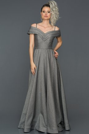 Long Grey Engagement Dress AB7588
