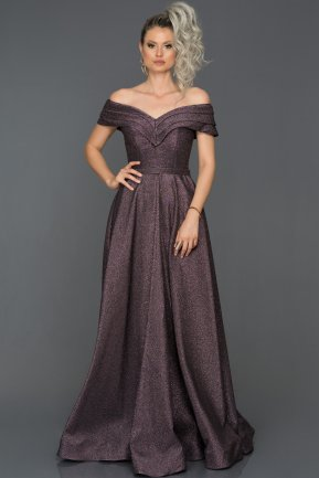Long Violet Engagement Dress AB7588