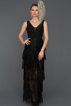 Long Black Prom Gown AB7593