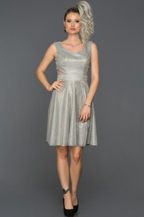 Short Grey Prom Gown AB8161