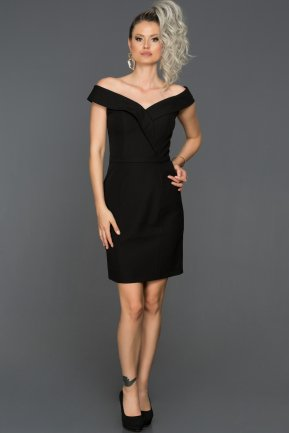 Short Black Invitation Dress ABK129