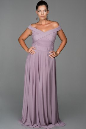 Long Lavender Oversized Evening Dress AB1163