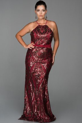 Long Burgundy Evening Dress AB9199