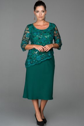 Short Green Oversized Evening Dress ABK848