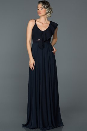 Long Navy Blue Engagement Dress ABU476